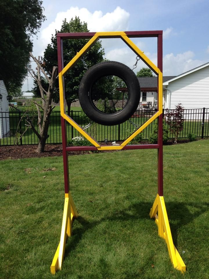 Homemade football target basketball training equipment