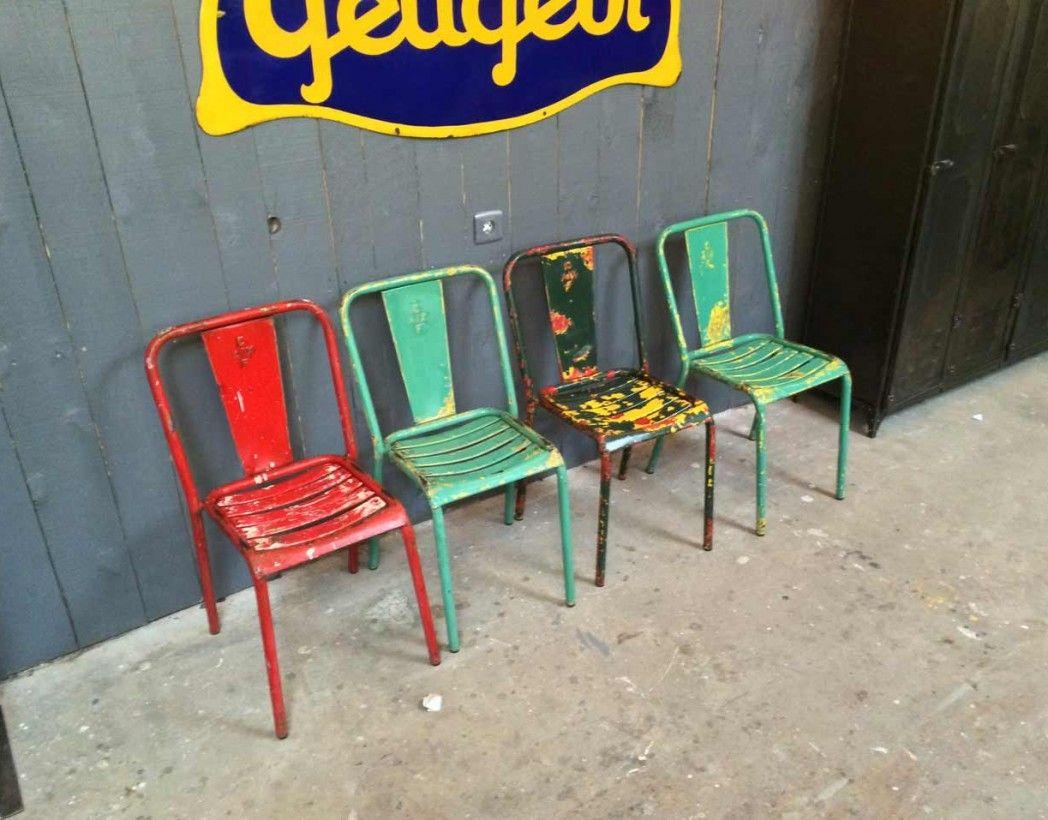 Chaise de bistrot Tolix T4 - 5 Francs