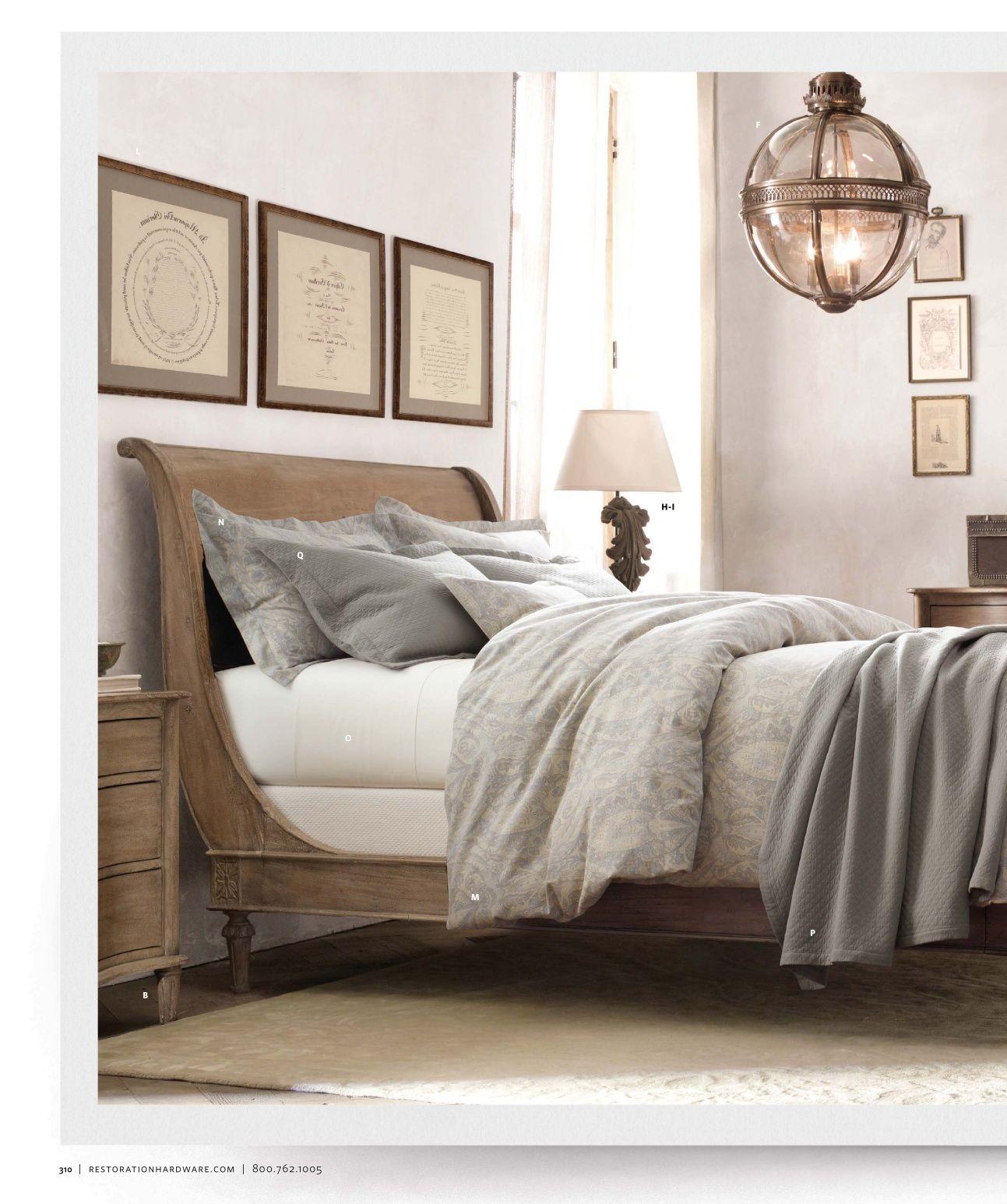 Bedroom & light Restoration Hardware Diy home decor