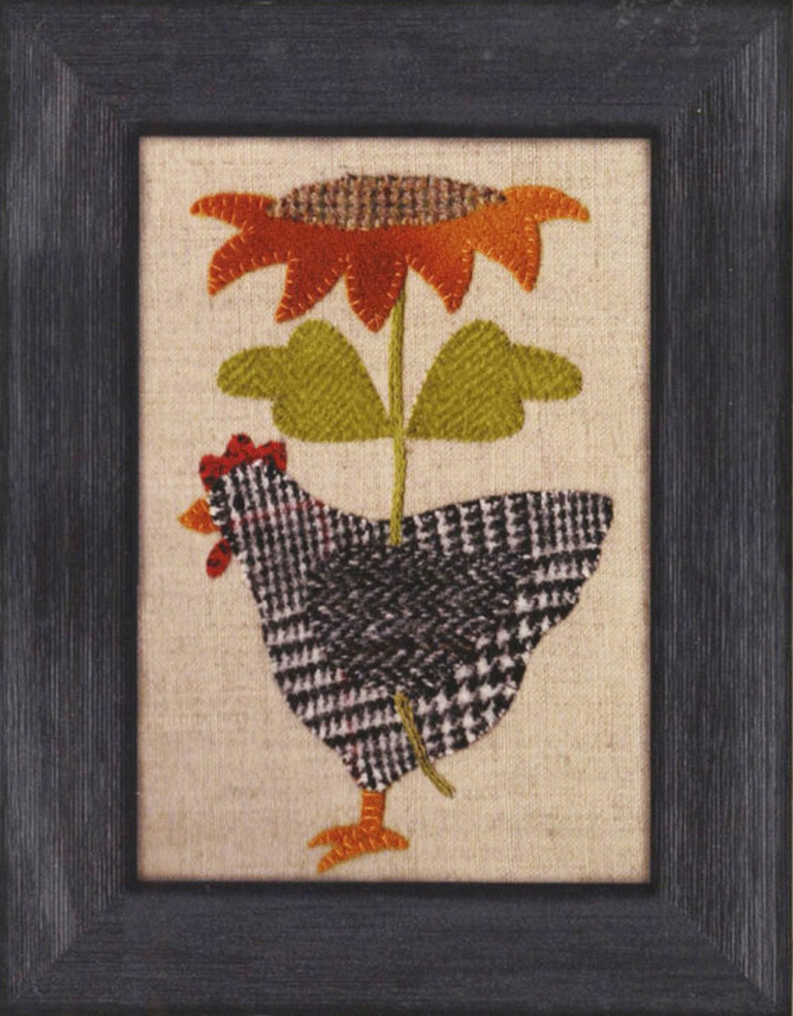 Henny Penny Pattern Atn Hen Chicken With Sunflower