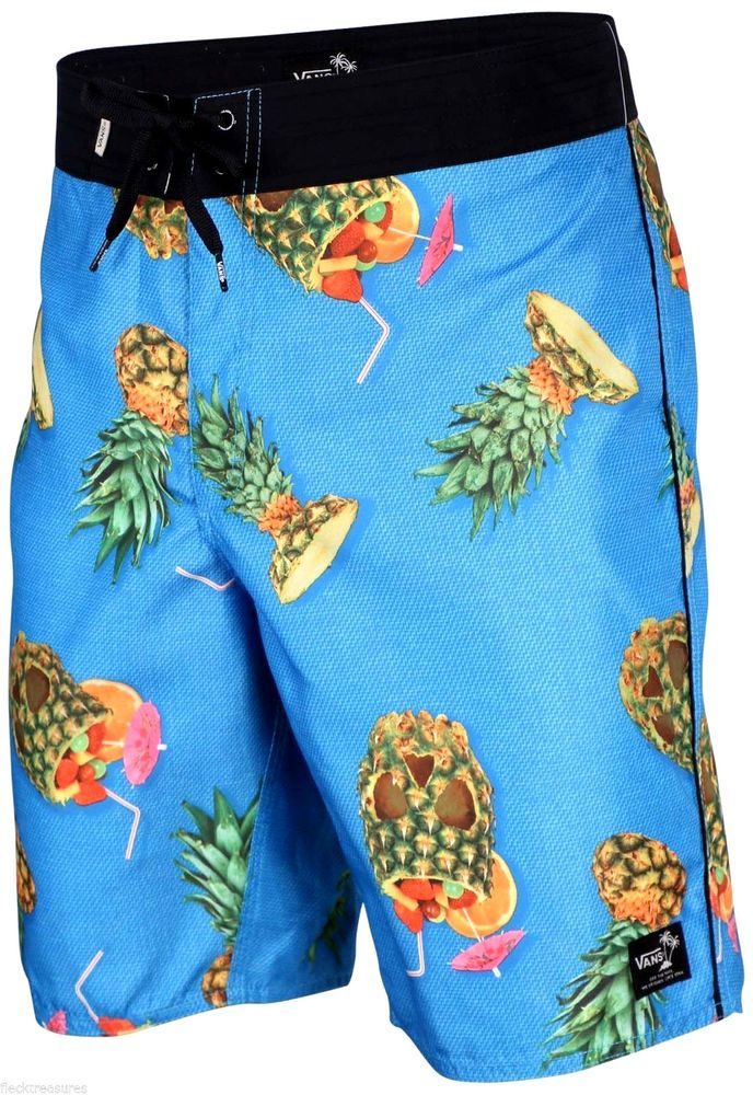 South Shore Mens Floral Hawaiian Print Swim Shorts Summer Surf Board Trunks
