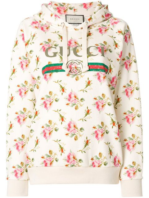4795a6c7 Gucci floral logo hooded sweatshirt | Flowers & Softies in 2019 ...