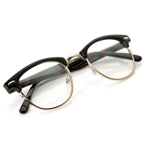 Vintage Optical RX Clear Lens Half Frame Glasses 2946 49mm | Lentes ...