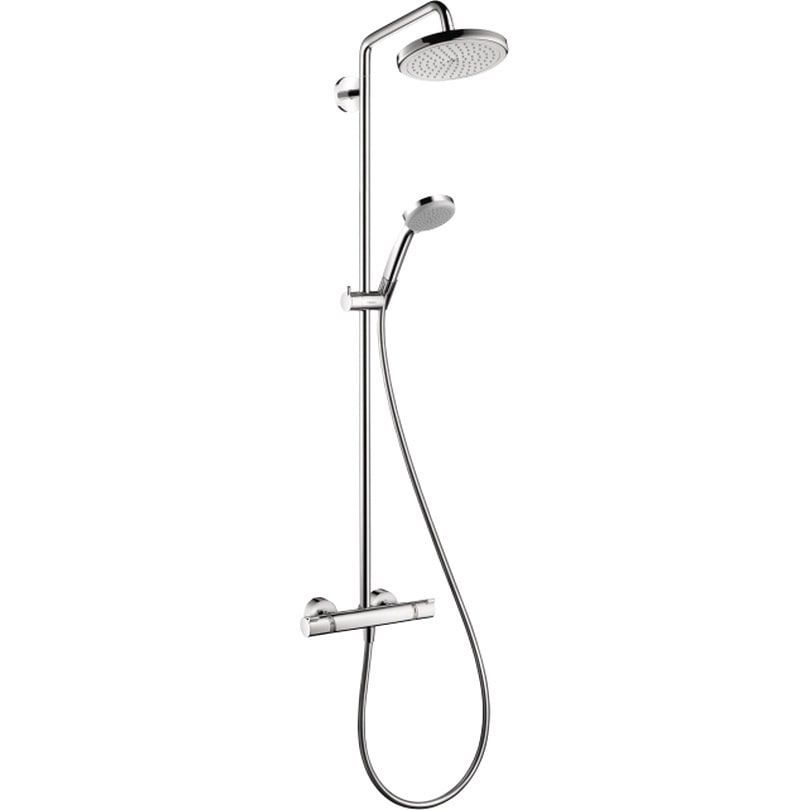 Hansgrohe Croma 220 Brushed Nickel Showerpipe (Brushed
