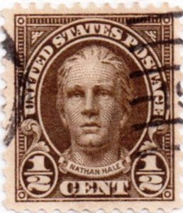 Us Postage Stamp 1 2 Cent Nathan Hale Issued 1922 Scott Catalog 551 Stamps Stamp
