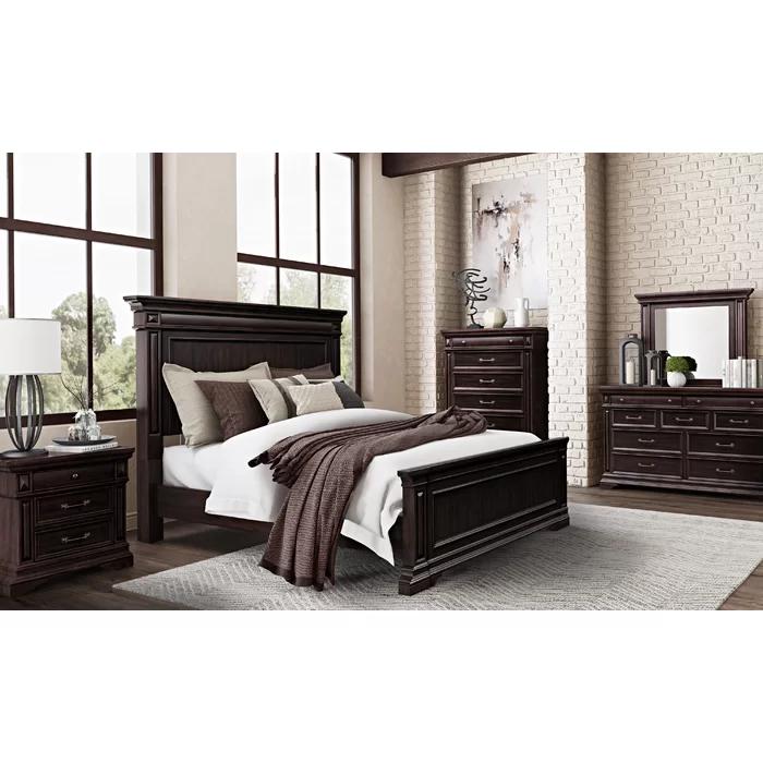 Olander Standard Solid Wood Configurable Bedroom Set