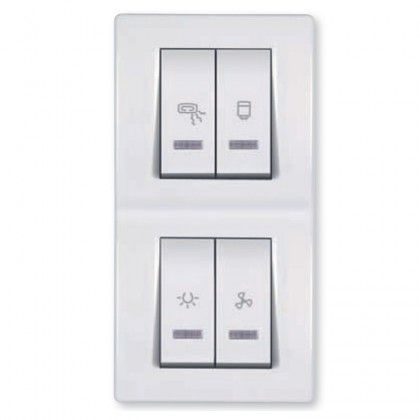 Bathroom switch with indication for four independent circuits 2x10 bathroom switch with indication for four independent circuits 2x102x16a 250v aloadofball Choice Image