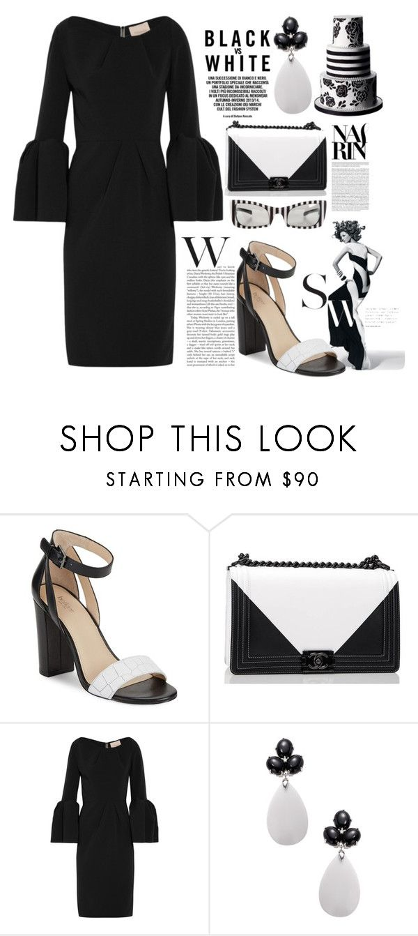 """""""B&W"""" by natkool ❤ liked on Polyvore featuring Botkier, Chanel, Roksanda, Rina Limor and Versace"""