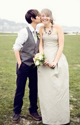 brides tomboy lesbian wedding dress suit ideas Pinterest