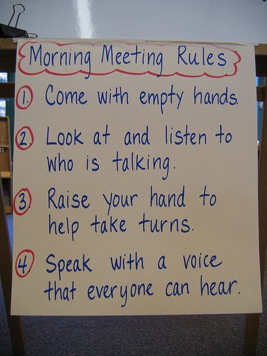 Morning Meeting Rules is part of Classroom meetings - Explore ifbowlingwereyou's photos on Flickr  ifbowlingwereyou has uploaded 165 photos to Flickr