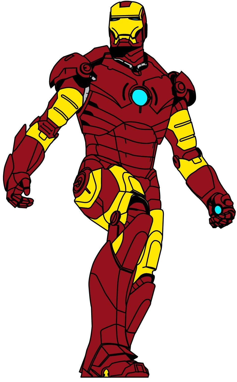 Iron Man Logo Download Vector Animasi