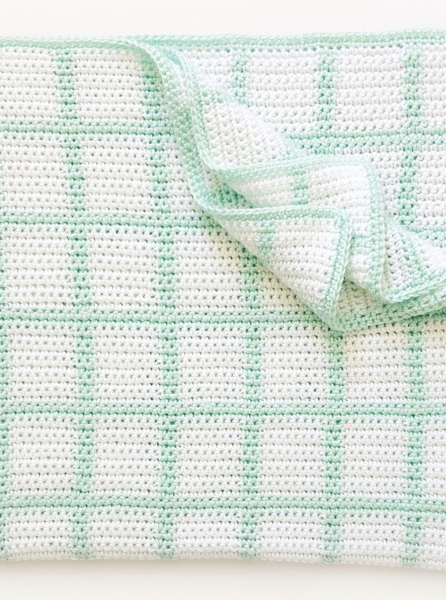 Windowpane Baby Blanket in SC, free pattern by Daisy Farm Crafts. 38 ...
