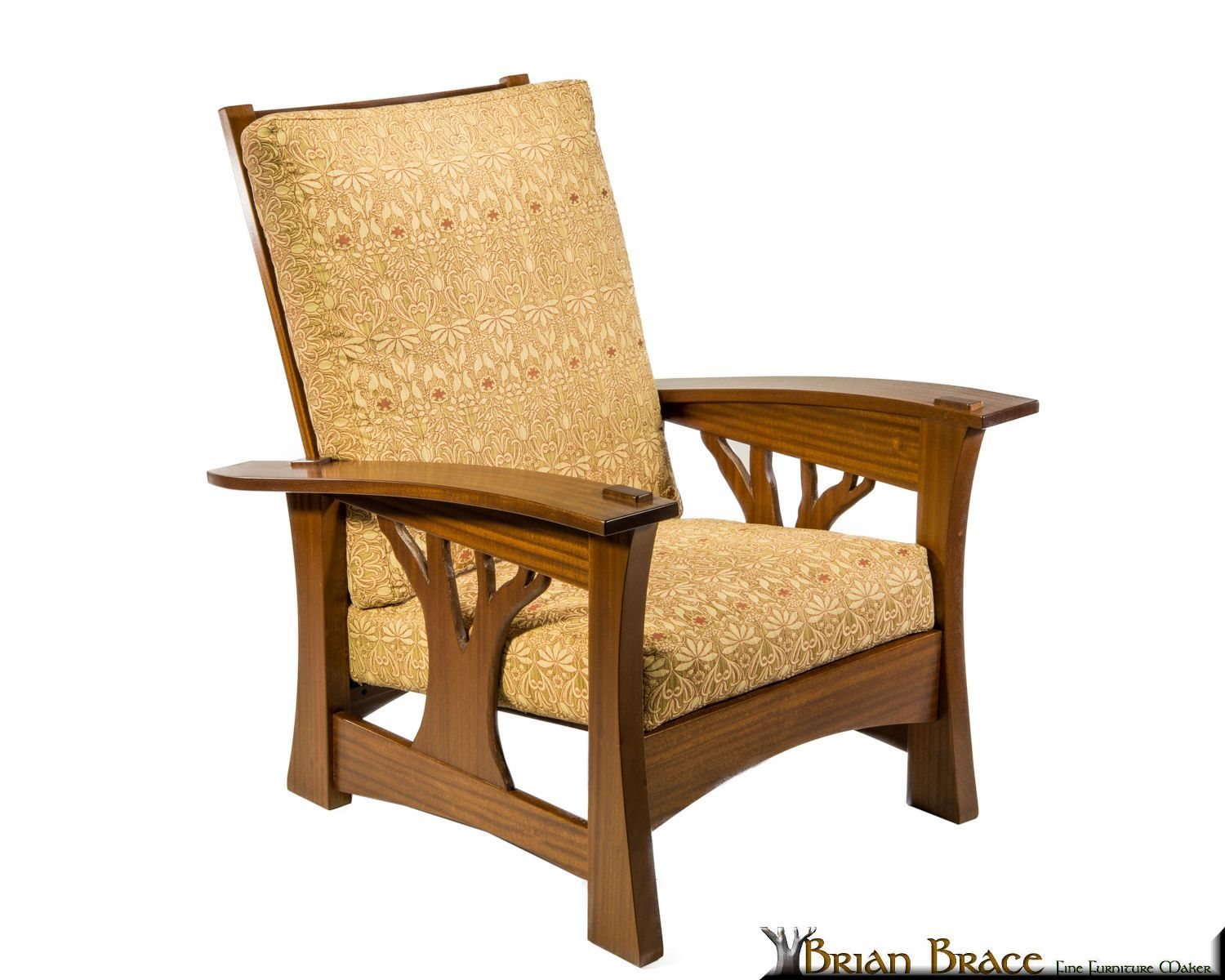 this arbor bow arm morris chair , inspired by the beautiful live
