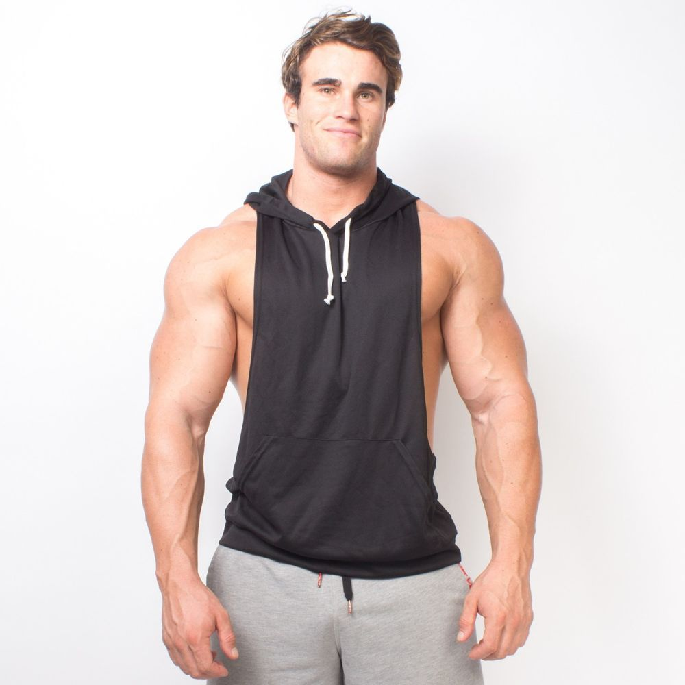 c1273934 WHT Dryfit Racerback Muscle Hoodie Stringer Dry Fit Gym Made In The USA  3010RUDY #OverTheLimitApparelcom #Hoodie