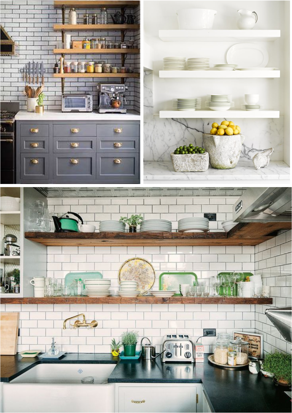 open shelves in kitchen ideas  Open Shelves Yay or Nay