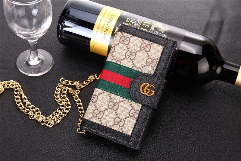 3354 gucci lattice strap flip leather cases chain book
