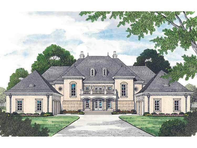 Eplans Chateau House Plan - Grand Manor - 8126 Square Feet and 5
