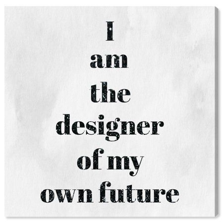 Runway Avenue Typography and Quotes Wall Art Canvas Prints 'Designer of my future' Motivational Quotes and Sayings - Black, White, Red