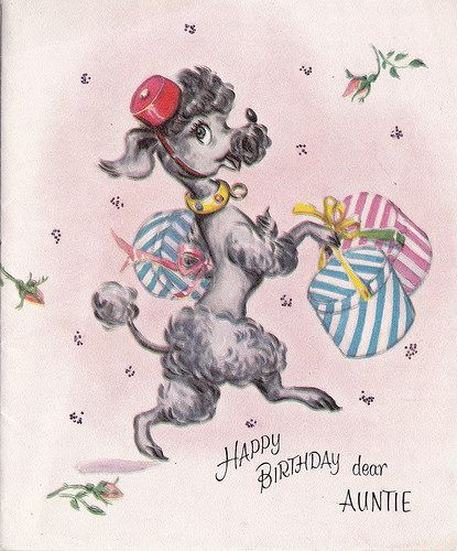 Vintage poodle birthday card by museum of kitsch ephemera vintage poodle birthday card by museum of kitsch ephemera bookmarktalkfo Gallery