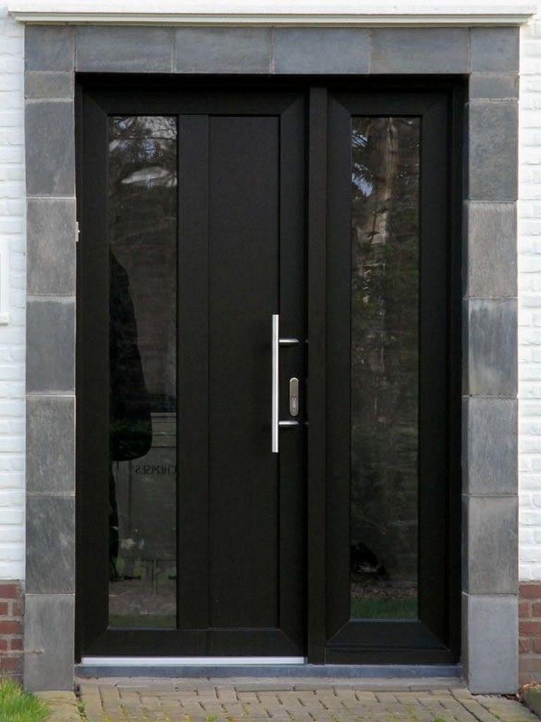 20 Admirable Trendy Black Front Doors For 2018 Contemporary Front Doors Black Front Doors Modern Front Door
