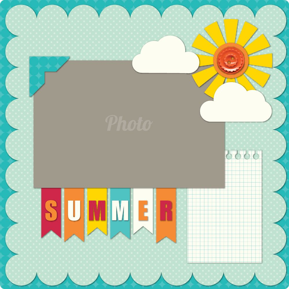 Summer Layout I Like The Flag Title Simple Scrapbooking LayoutsSimple Scrapbook IdeasScrapbooking