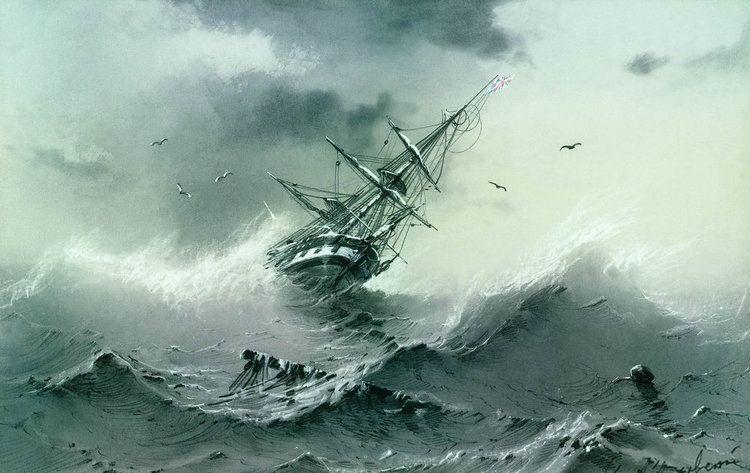 Ivan Constantinovich SAILING SHIP POSTER Shipwreck