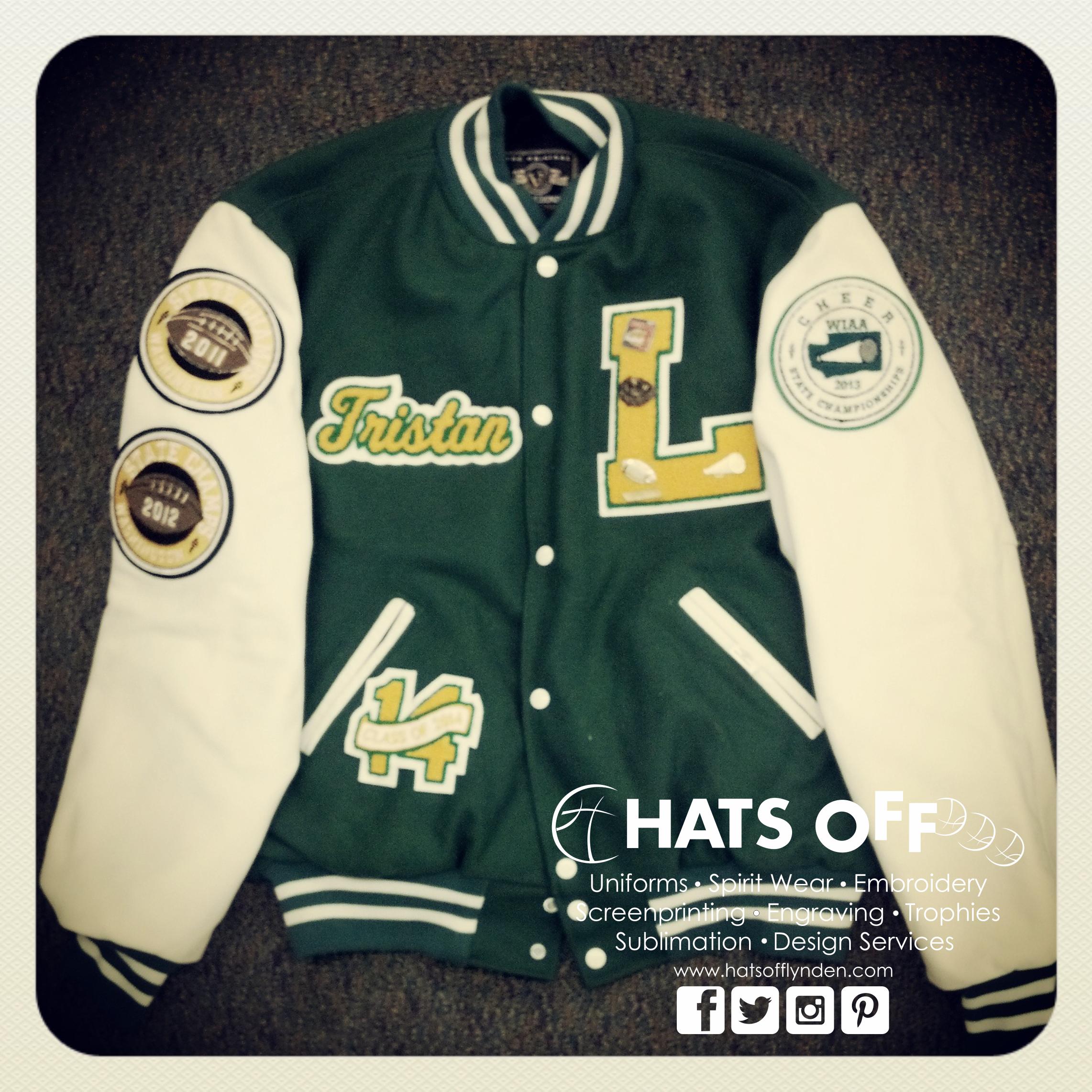 9e1c55d296 Custom built lettermans jacket for a student at Lynden High School ...
