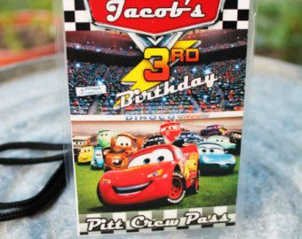 Disney CARS Birthday Invitation Jacob birthday party Pinterest