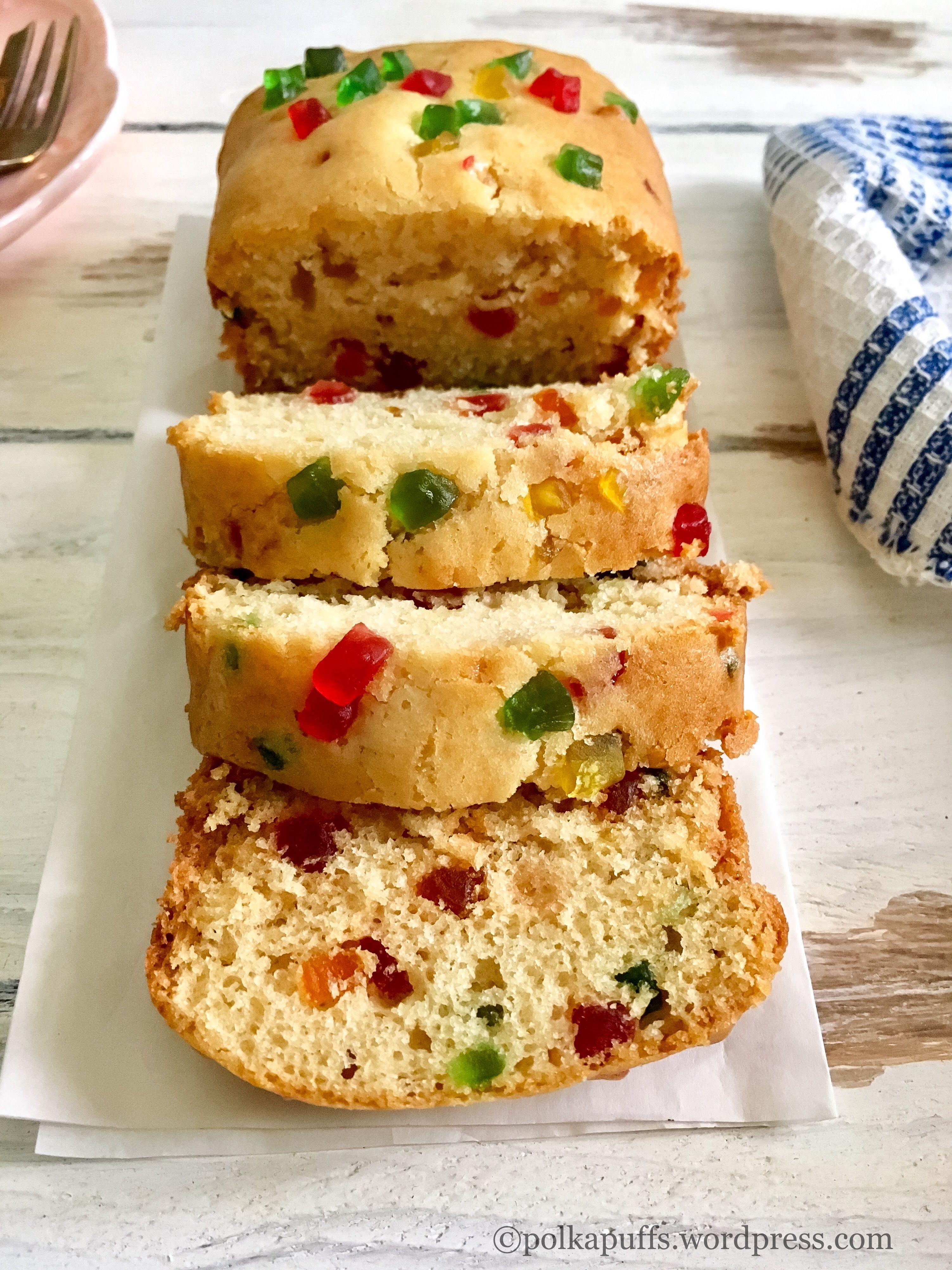 Egg Free Butter Free Tutti Frutti Cake Everyday Tea Time Delight Recipe Fruit Recipes Eggless Recipes Recipes