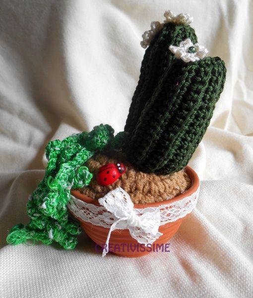 Piantine grasse all'uncinetto fatte a mano  di CREATIVISSIME su DaWanda.com