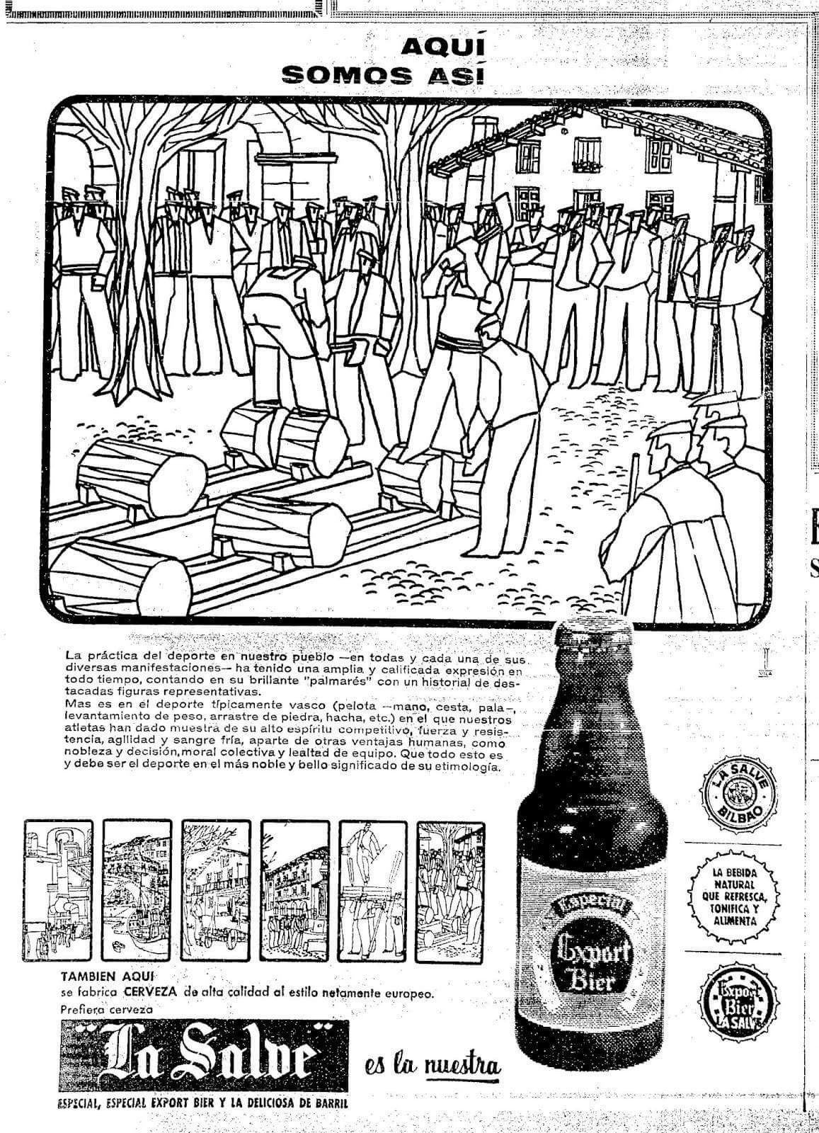 Publicidad De Cerveza La Salve 1 964