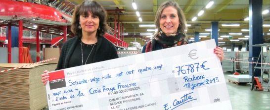 Un chèque de 76 787 € pour la Croix Rouge française