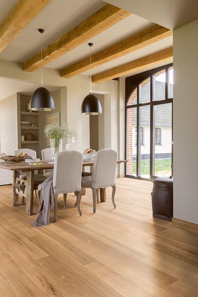 Dining Room Flooring Quickstep Parquet Flooring  Castello 'natural Noble Oak Matt