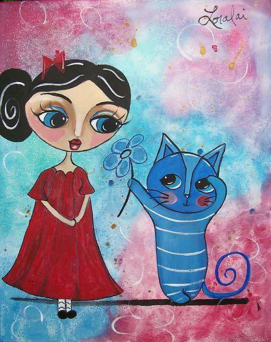 blue cat series prints from Loralai!