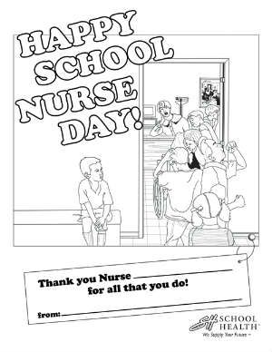 Have your child color this FREE printable for School Nurse