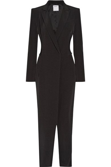 46805444caaf DKNY Ribbed-knit paneled stretch-crepe jumpsuit.  dkny  cloth  jumpsuits