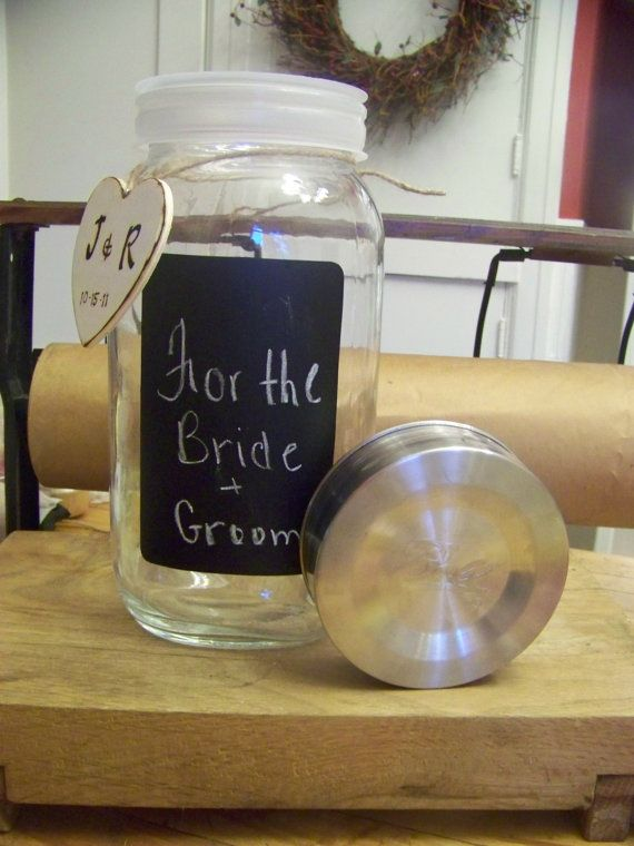 Personalized Wedding Money Jar For Bride And Groom Etsy Wedding Money Money Jars Personalized Wedding