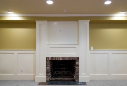 Wainscoting Around Fireplace Wainscoting Stairs Dining