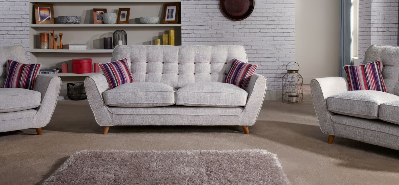 The Linea Riva 3 Seater Sofa Combines Stylish Retro Fabric Designs, Fibre  Filled Seat Interiors And Two Wood Foot Options. Buy Online Now At House Of  Fraser