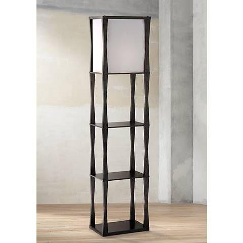 Haiku Etagere Black Floor Lamp 2g189 Lamps Plus Black Floor Lamp Contemporary Floor