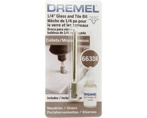 Dremel 663dr 1 4 Inch Glass Tile Drill Bit Dremel Dremel Tool Projects Drilling Holes In Glass
