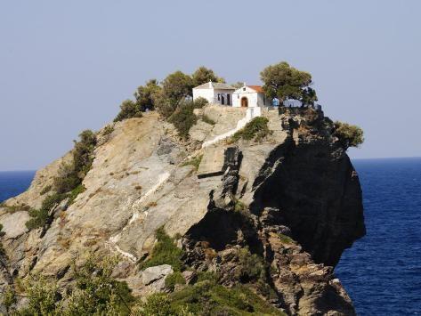 Church Of Agios Ioannis Used In The Film Mamma Mia Skopelos Sporades Islands Greece Photographic Print Robert Harding Art Com In 2021 Skiathos Movie Locations Mamma Mia