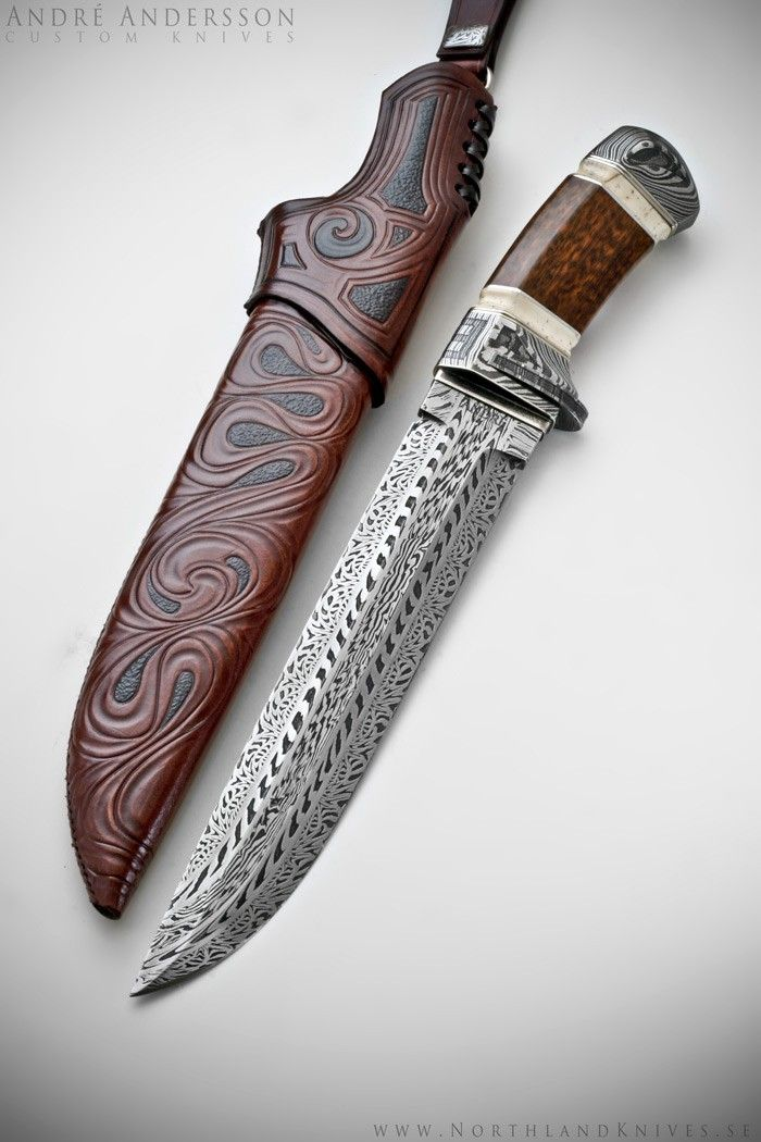 Andr 233 Andersson Custom Damascus Knives Knives Daggers