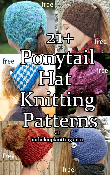 Everyone s Going Crazy for Knit and Crochet Ponytail Hats (aka the ... 9348c2812764