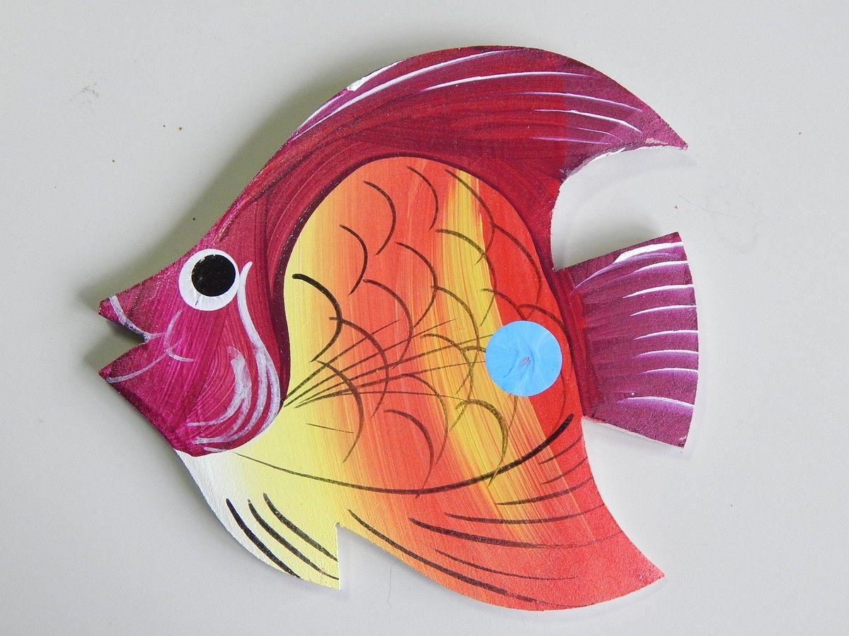 Decoração parede peixe vermelho gg1