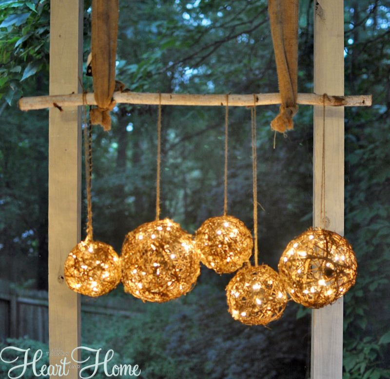 DIY String Light Projects Light project Outdoor chandelier and