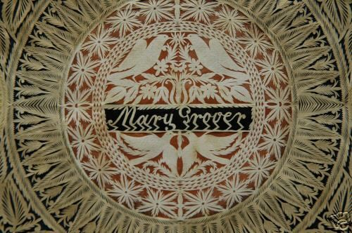 Antique Paper Cut Work Detail: Mary Grover