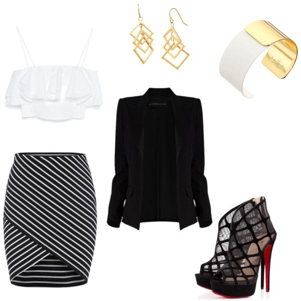 A night out with the ladies by Enaea Smith on Polyvore featuring polyvore fashion style Zara Alexandre Vauthier Christian Louboutin Kate Spade