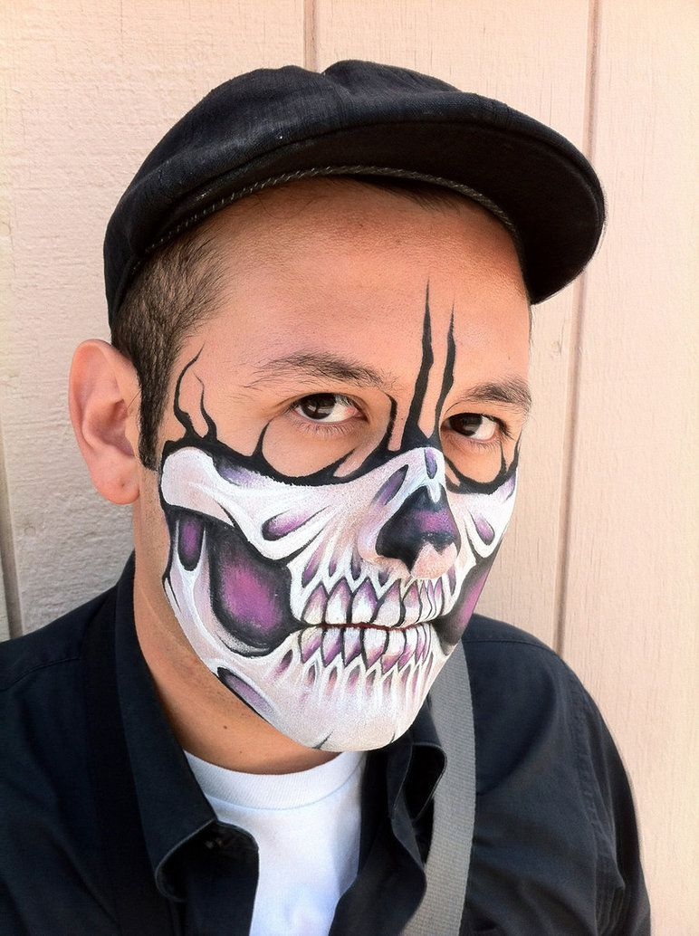 Purple Skull Mask 2 by RonnieMena Face painting