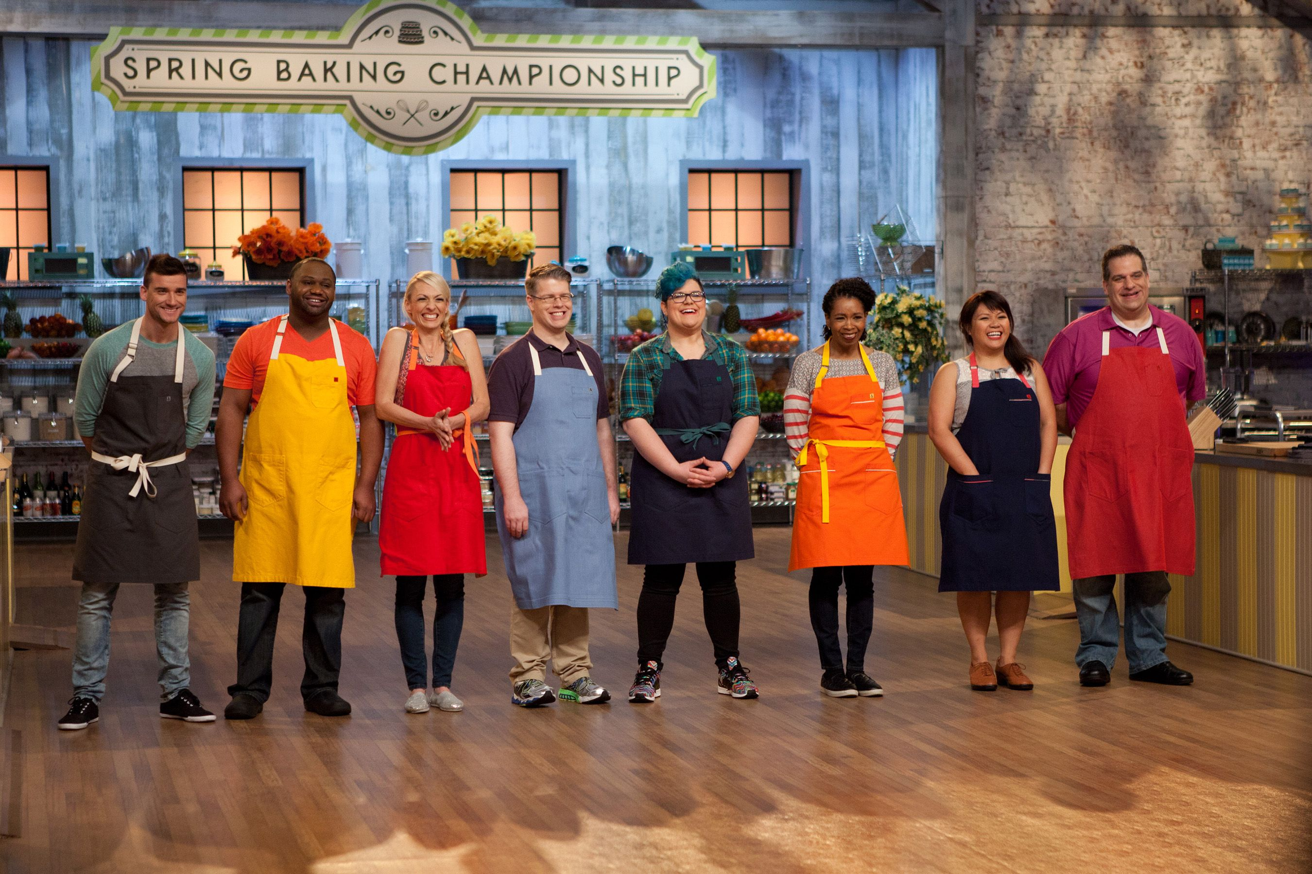 Contestants on Food Network's Spring Baking Championship